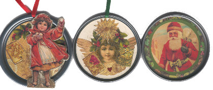 Christmas juice lids