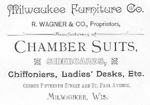 Carolyn Brady Historical Research Robert Wagner And The Milwaukee Furniture Co